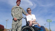 An Iraq war veteran, paralyzed by a sniper's bullet, is preparing to take his own life rather than live sick.