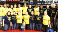 Rather than simply hanging out, the Lincoln County High School girls basketball team decided to help out.