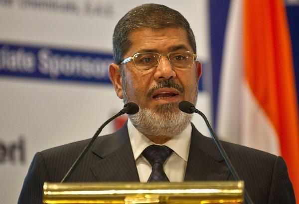 Egyptian President Mohamed Morsi on Wednesday.
