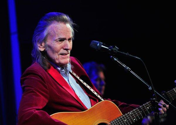 Singer-songwriter Gordon Lightfoot performs at the Grammy Museum in Los Angeles on March 21.