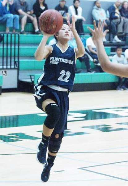 ARCHIVE PHOTO: Flintridge Prep's Maya Okamoto was named to Prep League's first team.