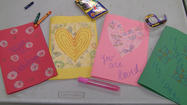 Coming together as a community, South Windsor residents donated handmade cards to the families of the Sandy Hook tragedy.