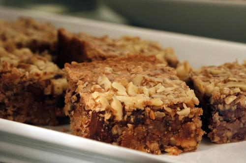 "Haroset bars. <a href=""http://www.latimes.com/features/food/la-fo-passover-rec3-20130323,0,469130.story"">Recipe</a>."