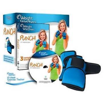 """Weight Watchers Punch!"" DVD With weighted gloves. ($39.98, www.walmart.com)"