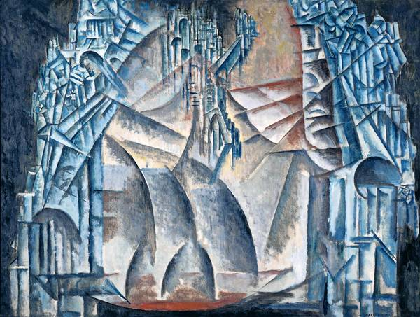 """Max Weber's """"Interior of the Fourth Dimension,"""" 1913. National Gallery of Art, Washington,"""