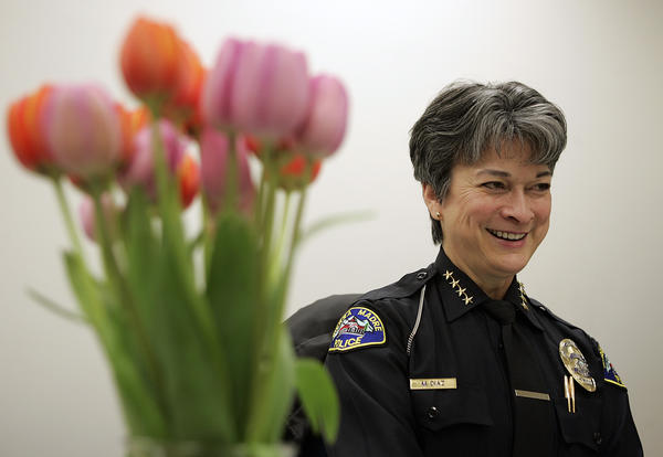 Former Sierra Madre police Chief Marilyn Diaz.