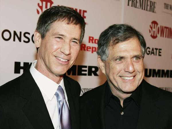 Lions Gate CEO Jon Feltheimer, left, and CBS Chief Executive Leslie Moonves have a deal cooking.
