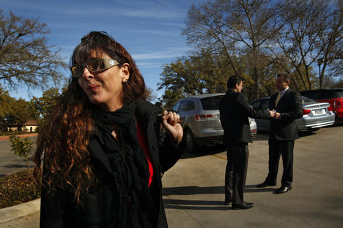 San Antonio real estate agent Ana Sarabia, who caters to new immigrants from Mexico, attends a business owners meeting at the Sonterra Country Club.
