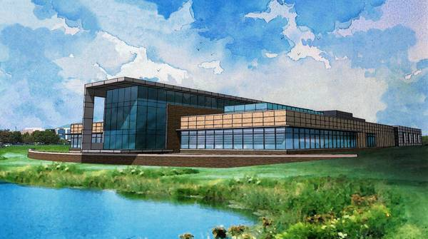 Rendering of Delnor Hospital's new cancer center.