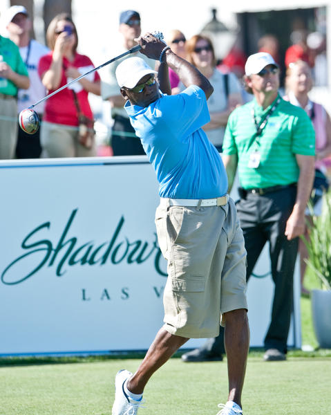 Michael Jordan tees off last year during his celebrity invitational in Las Vegas.