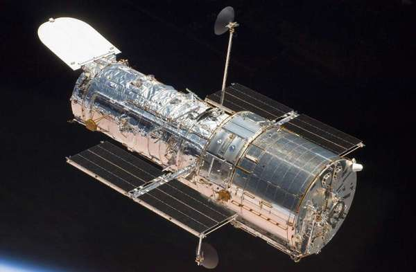 Astronauts aboard the shuttle Atlantis took this picture of the Hubble Space Telescope in 2009 after they finished the final servicing mission for the powerful instrument.
