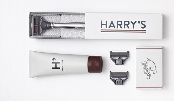 Harry's Winston shaving kit ($25) includes a chrome-handled razor, three razor cartridges and a tube of shaving cream