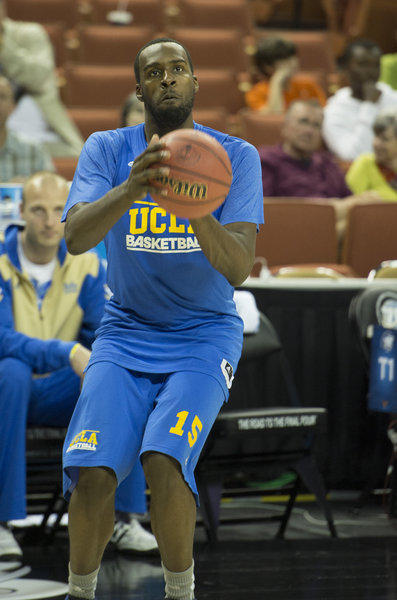 Shabazz Muhammad (15) of UCLA shoots during practice in preparation for the team's game against Minnesota on Friday in the NCAA Tournament. (George Bridges/MCT)