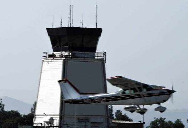 The FAA says it doesn't know whether budget cuts will force it to close air-traffic control towers at smaller airports, including this one at Riverside Municipal Airport.