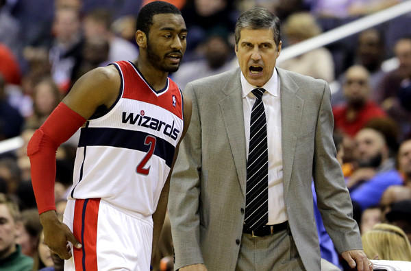 Wizards guard John Wall and Coach Randy Wittman were able to engineer a victory over the Lakers last week.