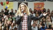 When professional surfer Rob Machado rolled into the Corona del Mar High School gym Friday morning, he brought a message with him.
