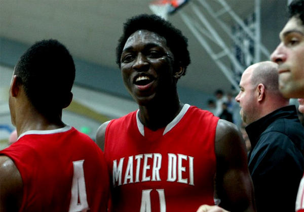 Stanley Johnson of Mater Dei is a 6-7 junior who had 25 points and 12 rebounds in the regional final.