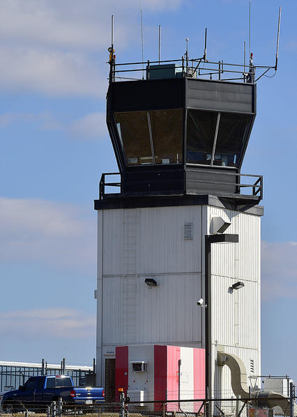 The control tower at Hagerstown Regional Airport is one of 149 that will close because of federal budget cuts.