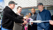 At a time when the U.S. Postal Service is recommending cutting Saturday service, it is actually adding outlets for customers in the form of village post offices such as the one at May's Service Center at 8708 Sharpsburg Pike, where a grand opening ceremony was held Friday.