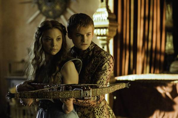 """Game of Thrones,"" appearing on HBO, snared six Emmys last year. Above, Natalie Dormer and Jack Gleeson in a scene from the show's third season."