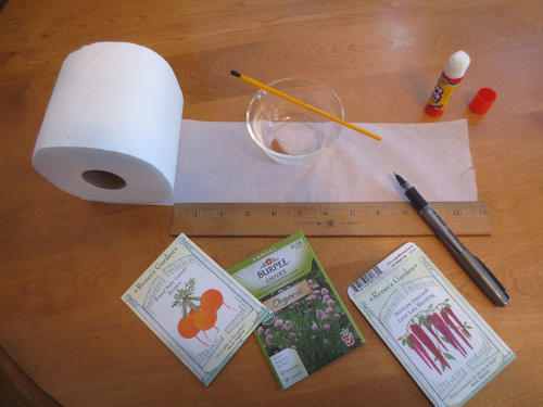 Homemade seed tapes are economical and make handling small seeds much easier.