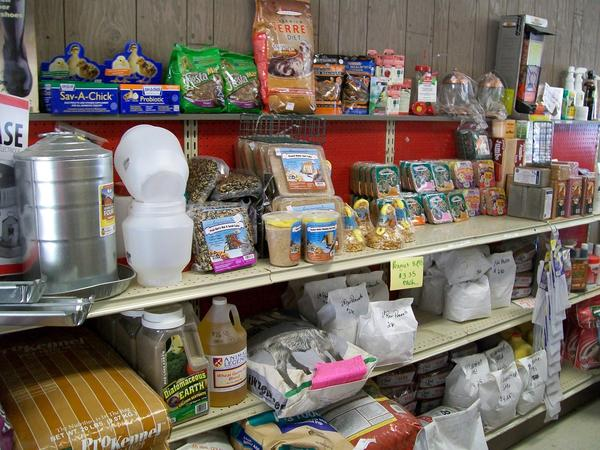 In addition to the farm products, Yachere Feed Inc. carries wild bird food and feeders, and many other gardening supplies.
