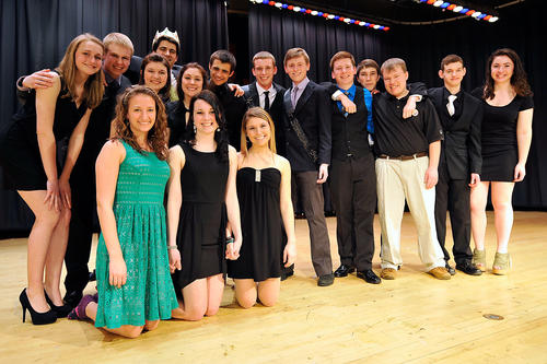 Students at Northwestern High School held their annual Mr. Northwestern contest Friday, March 22, 2013 in New Tripoli. The event open to senior boys judges them in several categories including formal wear and talents.