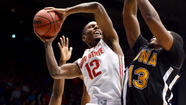 DAYTON, Ohio -- Sam Thompson had career highs with 20 points and 10 rebounds on Friday night, part of a dominating performance by Ohio State's front line, and the Buckeyes ran away to a 95-70 victory over Iona in the second round of the West Regional.
