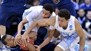 KANSAS CITY, Mo. -- P.J. Hairston scored 23 points, James Michael McAdoo added 17 and North Carolina unleashed a flurry of 3-pointers to subdue gritty Villanova, 78-71, in the second round of the NCAA tournament Friday night, giving coach Roy Williams his 700th career victory.