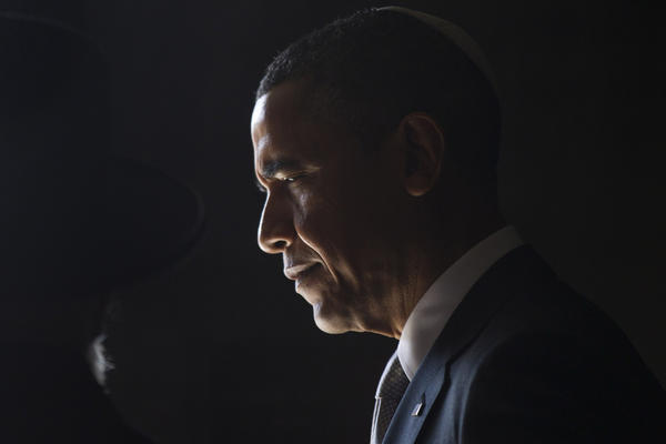 President Obama is seen during his visit to the Yad Vashem Holocaust Memorial museum in Jerusalem, Israel.