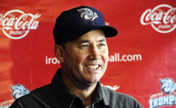 Lehigh Valley IronPigs new manager Dave Brundage meets the media at Coca-Cola Park on January 23, 2013.