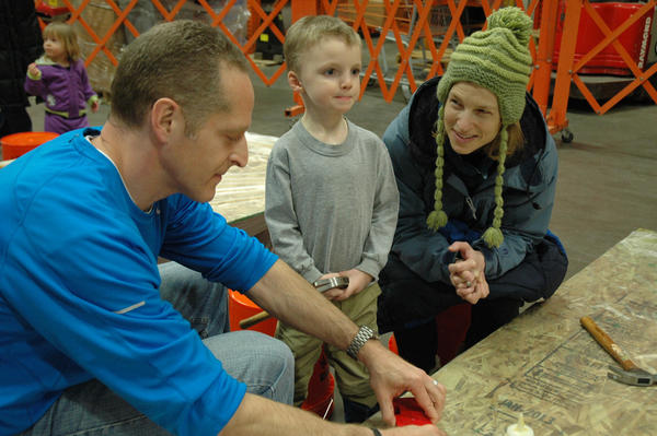 Families can attend the free workshops at the Home Depot store in Petoskey.
