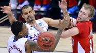 KANSAS CITY, Mo. -- Jeff Withey scored 17 points and top-seeded Kansas struggled to put away scrappy Western Kentucky in a 64-57 victory Friday night that avoided what would have been the biggest upset on a day full of them in the NCAA tournament.