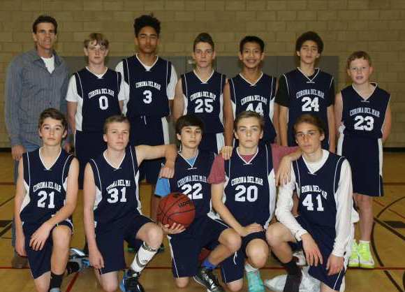 The Corona del Mar seventh-grade boys' basketball team went 6-0 in the Coastal Athletic League.