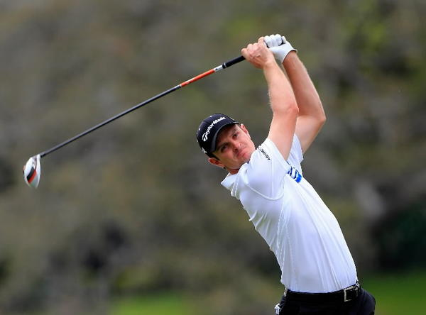 Justin Rose of England plays a shot on the 16th hole during the second round of the Arnold Palmer Invitational presented by MasterCard at the Bay Hill Club and Lodge on March 22, 2013 in Orlando, Florida. (Photo by Sam Greenwood/Getty Images)