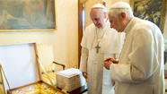 Photos: A meeting of the two popes