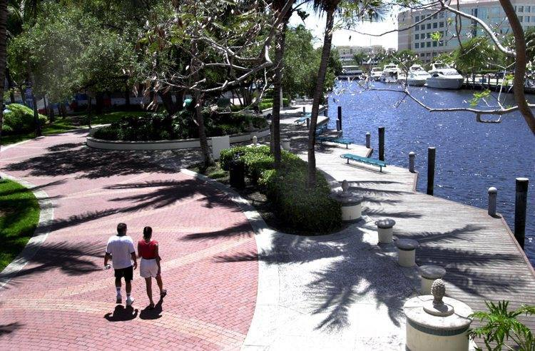 Fort Lauderdale's walk score -- the distance it takes to walk to certain places in a city -- was 33rd among the 189 cities ranked.