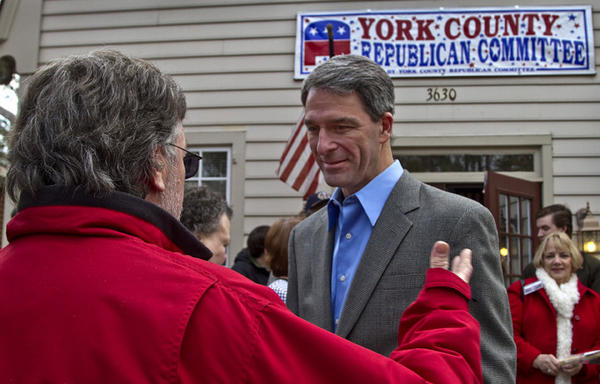 Attorney General Ken Cuccinelli held a campaign event at the York County Republican Headquarters on Rt. 17. Ken Cuccinelli is running for Virginia Governor in 2014.