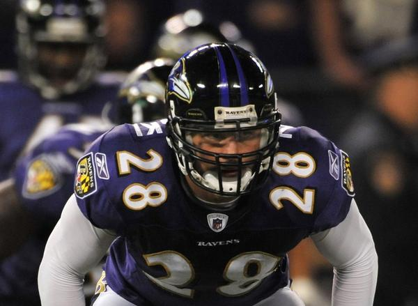 Tom Zbikowski played four seasons for the Ravens.