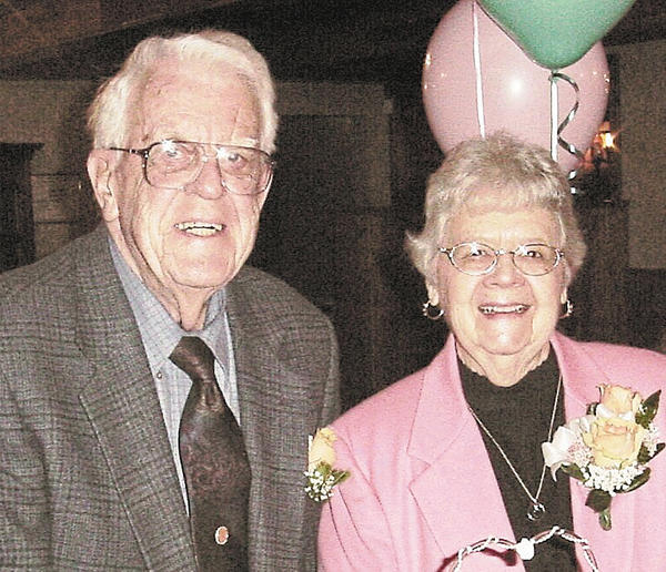 "Josef ""Chris"" and Nancy Bikle are shown in this 60th wedding anniversary photograph taken in 2006."