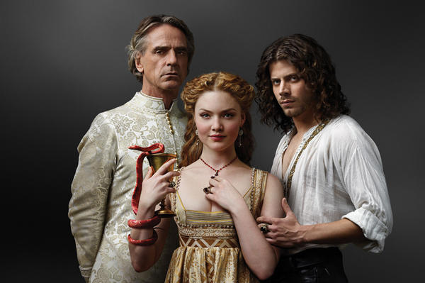 "Jeremy Irons, Holliday Grainger and Francois Arnaud return April 13 for Season 3 of ""The Borgias"" on Showtime."