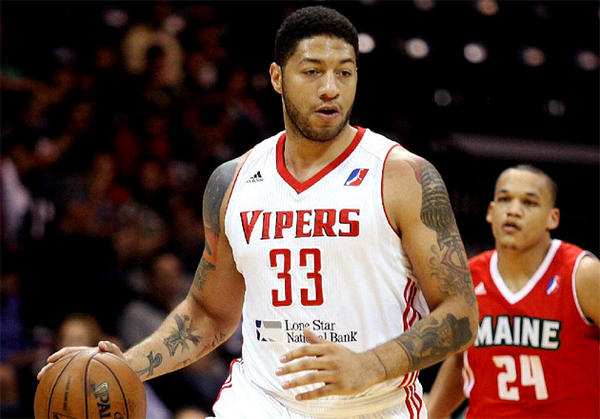 Rio Grande Valley Vipers' Royce White (33) advances the ball against the Maine Red Claws during an NBA D-League game.
