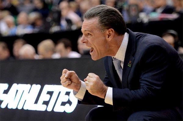 Pittsburgh Coach Jamie Dixon reacts during a game against Wichita State in the second round of the 2013 NCAA Men's Basketball Tournament.