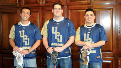 David Fiumara, Matt Ziance and Brian Kriston take time away from practice to talk about the UPJ Lax Cats lacrosse team.