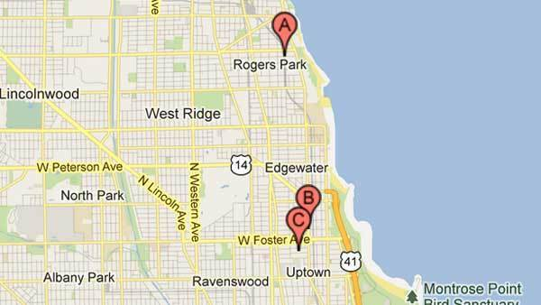 Five people were robbed in three attacks on the North Side.