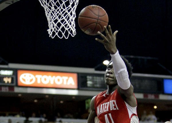 Mater Dei's Stanley Johnson scored 26 points and had 12 rebounds in the CIF state championship Open Division final.
