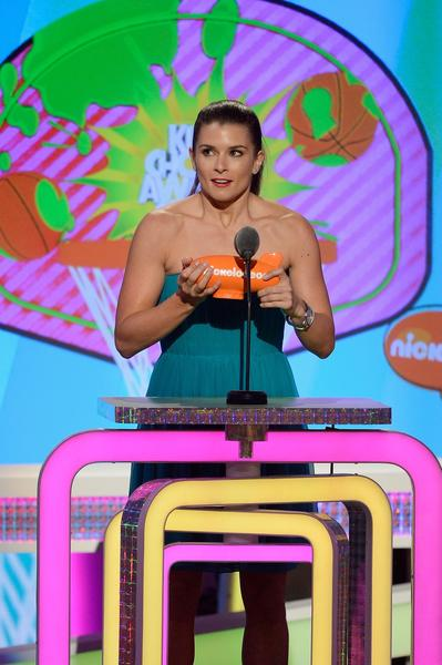 NASCAR driver Danica Patrick accepts the award for favorite female athlete.