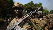 JOHANNESBURG, South Africa — Rebels in the Central African Republic ousted President Francois Bozize on Sunday, forcing him to flee as they stormed the capital, seized the presidential palace and took control.