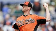 Orioles left-hander Brian Matusz, competing for the fifth starter's spot, took a step backward Sunday, allowing five runs in four innings against the Pittsburgh Pirates.