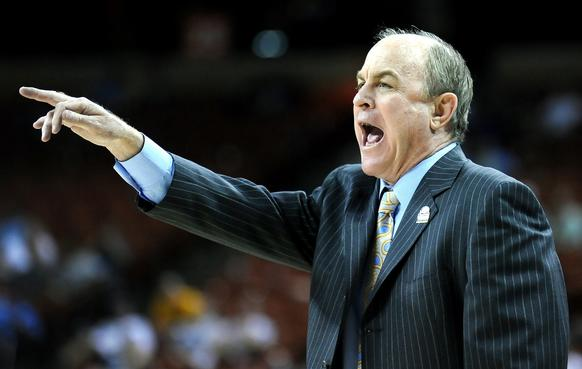 UCLA Coach Ben Howland shouts instructions during the team's game against Minnesota in the NCAA tournament.